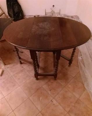 Tavolino antico in rovere Ripiegabile