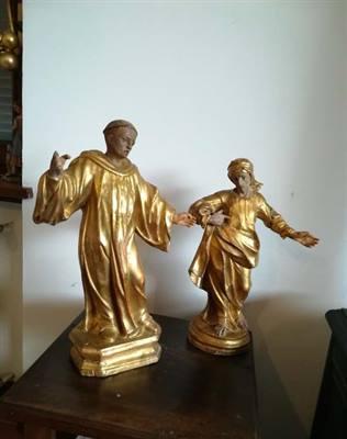 Coppia statue lignee fine '700