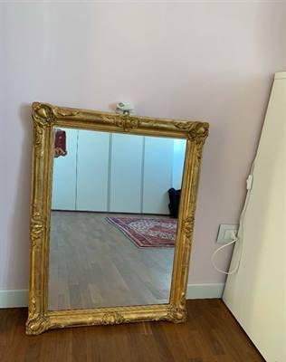 Specchio antico in lamina d'oro