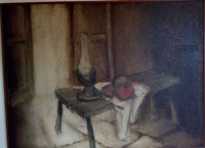 Dipinto V. Ghidini con cornice.