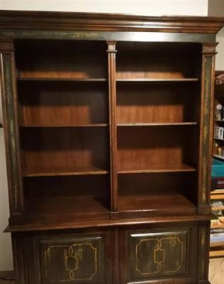 Libreria in legno massiccio stile Toscano