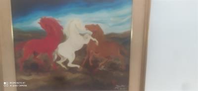 Quadro sardo i cavalli vintage