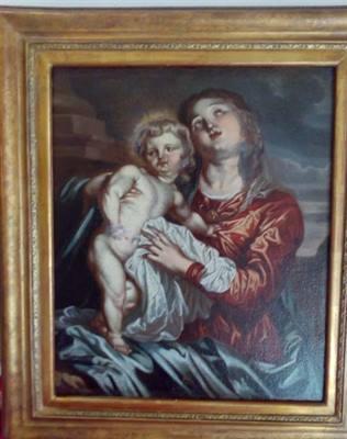 Madonna con bambino del 1600