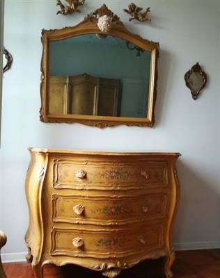 Camera letto '700 veneziano laccata a mano