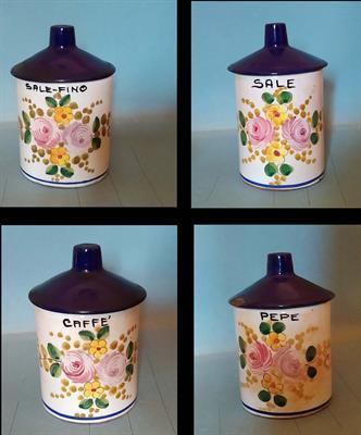 Set 4 Barattoli in ceramica marca Deruta-anni 50