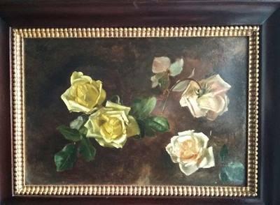 Coppia di quadri con FIORI - S. de Muralt