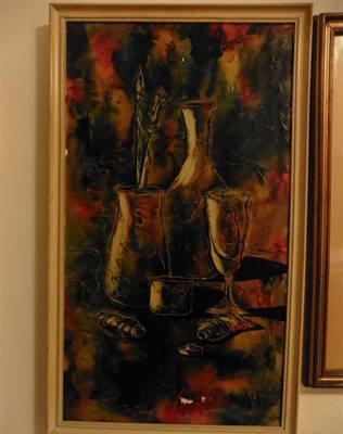 Quadro Oggetti D'Artista - Spatolato su Ceramica
