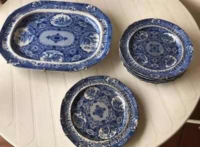 Vassoio e piatti ceramica Spode