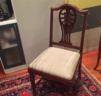 Quattro sedie antiche