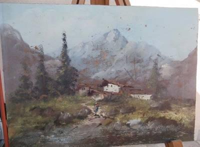 Pittore Fabbri - quadro su tavola di legno