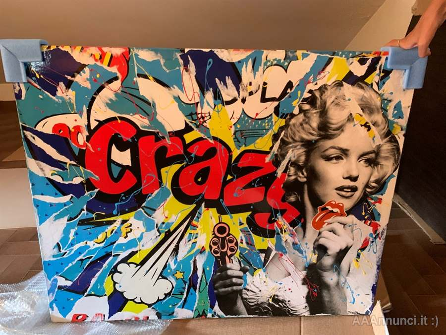Quadro domenico villano crazy girl