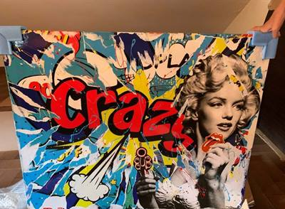 Quadro domenico villano crazy girl - 2