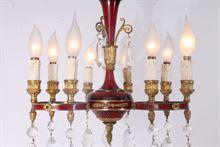 Antico Lampadario - chandelier in bronzo e cristallo 9