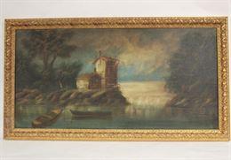 Dipinto olio su tela Paesaggio marino dell'autore Sicuri