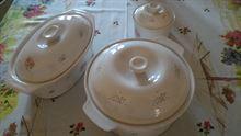 Zuppiera in ceramica, servizio composto da tre pezzi