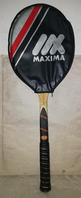 2 racchette tennis vintage Maxima, nuove con custodie