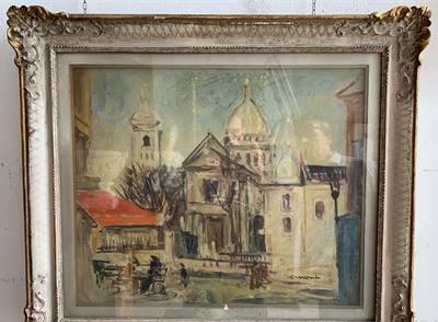 Dipinto Cesare Monti Sacre Coeur di Parigi