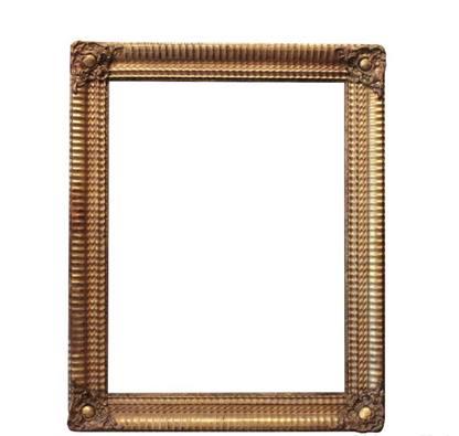 Antica cornice rettangolare dorata epoca '800