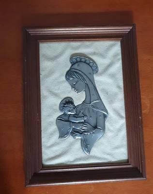 Quadro Madonna in argento