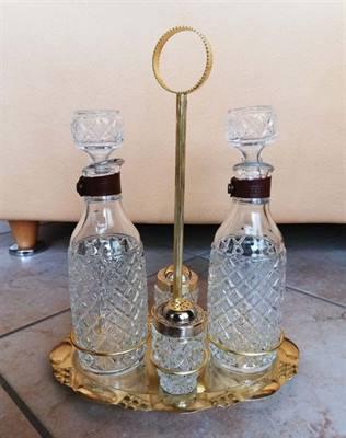 Set di condimenti a 4 pezzi in vetro stile vintage