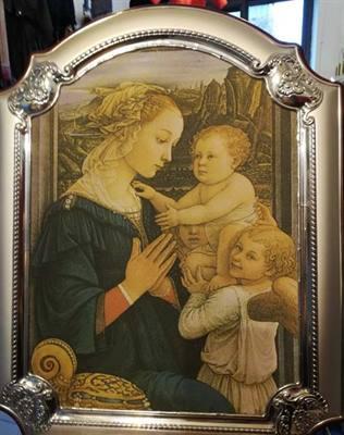 Quadro madonna con angeli