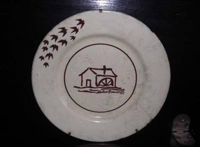 Mulino bianco piatto originale 1985 ceramica buono