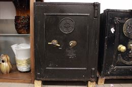 Cassaforte apribile nera Thomas Perry & Son originale UK