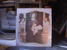 Poster Masolino Madonna Bambino Angeli ottimo.