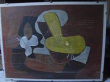 Poster Picasso Mandoline et portée de musique,1923.