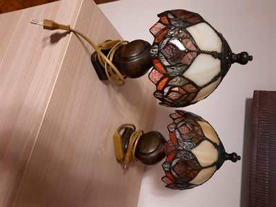 2 lampade stile liberty da comodino