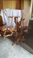 Panca e porta vasi in legno