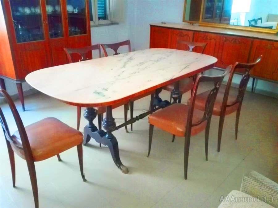 Tavolo Da Cucina In Marmo Anni 50.Sala Da Pranzo Anni 50 In Legno Frosinone Lazio