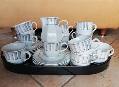 Set da the in porcellana bavaria e vassoio