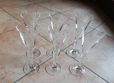 Set sei calici flûte in vetro usato poco