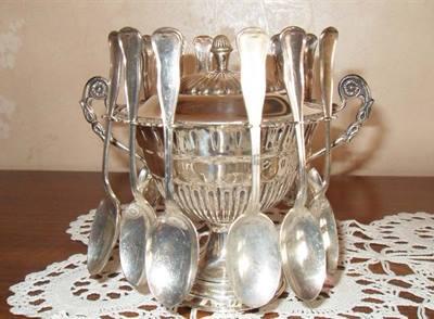 Zuccheriera d'argento anni 50